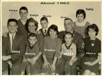 Evelyn (Ramage) McCarthy family, 1962