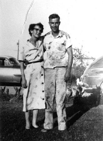 Llillian Audrie (Blevins) Cates and Son Harold Lloyd Cates