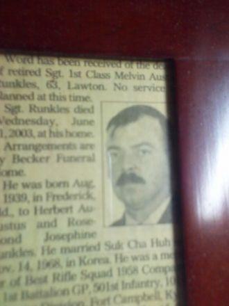 Melvin Austin Runkles Obituary