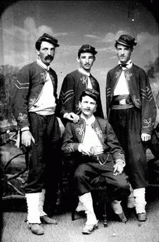 Zouave Foursome  in 1864