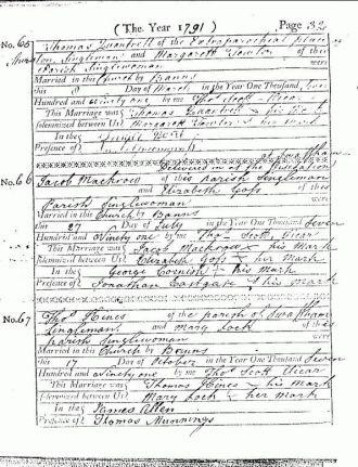 Thomas Quantrell Wedding Certificate