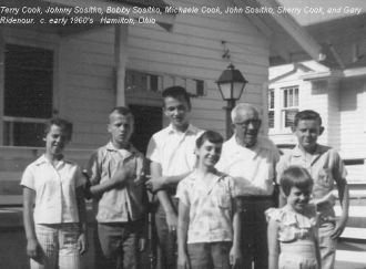 John Sositko with his grandchildren