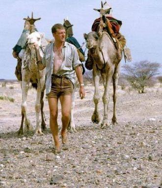 Victor Englebert with camels.