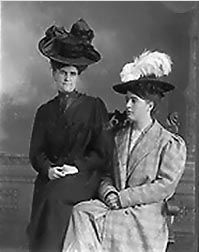Nell Steeples and Olive Burns