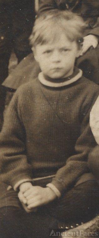 Joe Steen, young school boy