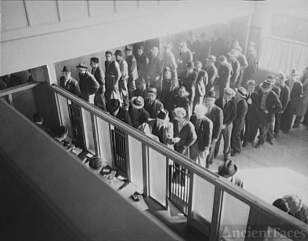 Unemployment Benefits Line 1938