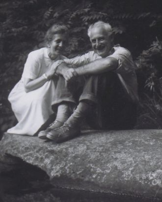 Frieda Planck Clarke and husband Hans Thacher Clarke