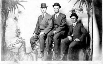Three men on Camel