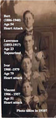 Lawrence, Bert, Ivor & Vincent Wagner