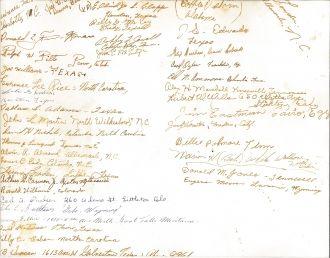 McMeece Naval Training Center Co 316, graduation signatures 20 Aug 1948