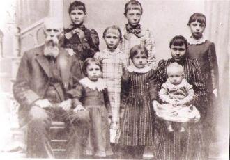 George Washington Fry, Candace Durman Fry and family