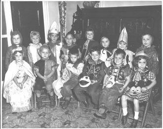 1951 Halloween School Party Springfield MA