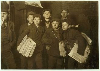 Group of Newsboys, New York