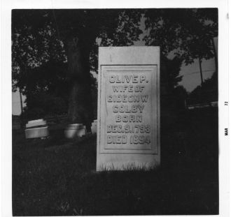 Olive P. Colby tombstone