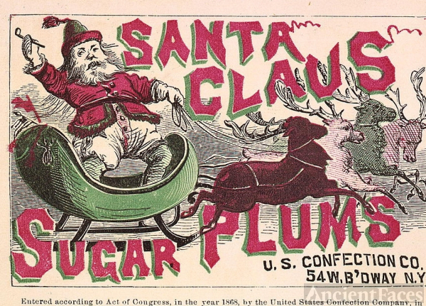 Santa Claus Label, 1868