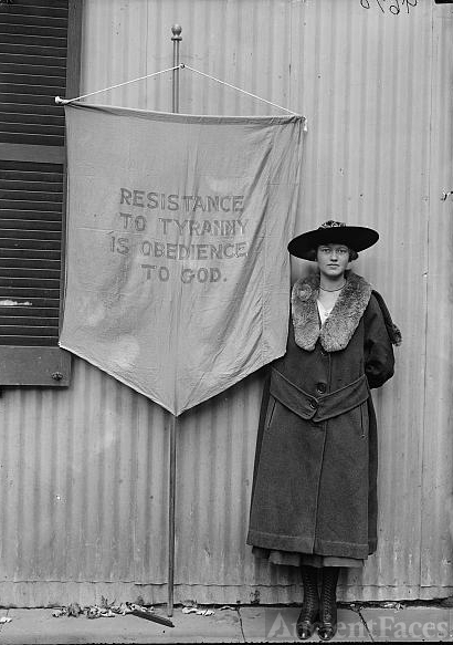 Unknown suffragette