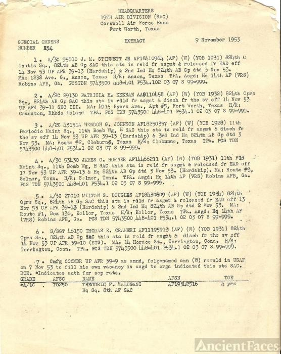 Weldon G. Johnson orders