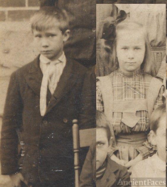 Ned and Gertrude Kelsey, schoolchildren