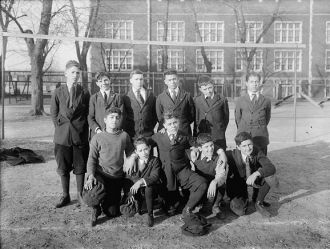 Abbot School soccer team, 1920