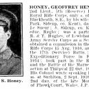 Geoffrey Henry Le Sueur Honey obituary