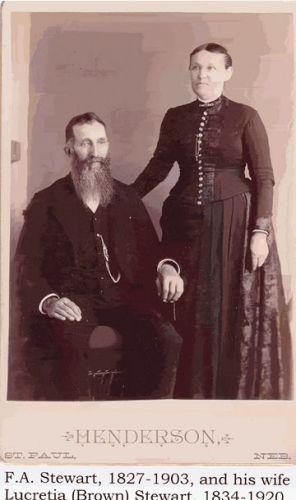 F.A. and Lucretia (Brown) Stewart