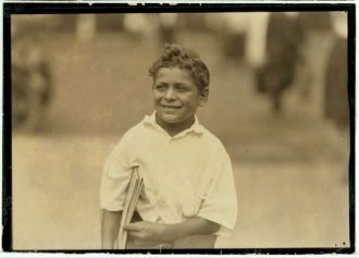 Patsy, eight year old newsboy