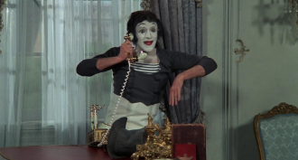 Marcel Marceau in the film SILENT MOVIE.
