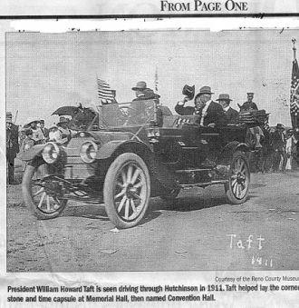 President Taft, 1911 hutchinson, ks