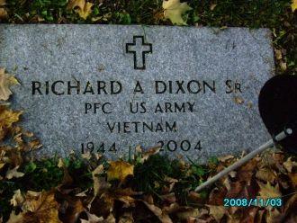 Richard A Dixon Sr. Gravesite