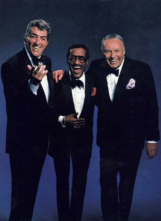 Sammy Davis Jr., Dean Martin and Frank Sinatra