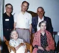 Lucy May Tyrel (born Culver) and family