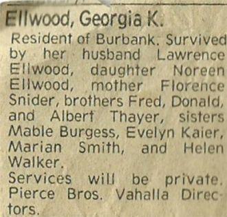 Georgia Katherine (Thayer) Ellwood