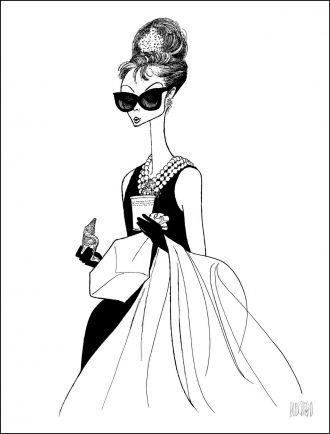 Audrey Hepburn by Al Hirschfeld