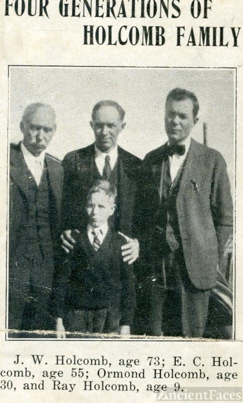 Jackson Walter Holcomb family