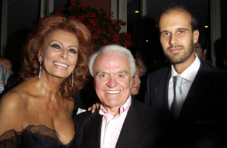 Jack Valenti, Sophia Loren and Edoardo Ponti