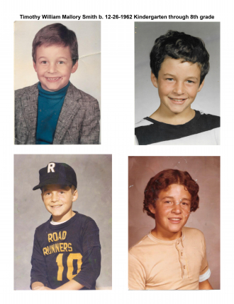 Timothy William Mallory Smith, the growing years. b. 12-26-1962