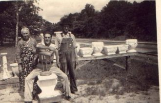 John, William, & Sarah Evans, c 1948