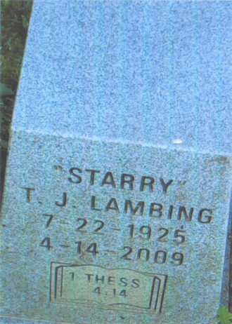 Twyla Jane (Starry) Lambing Gravesite
