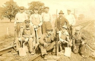 Erie RR crew Uniondale,Wells, IN