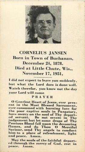 Cornelius Jansen Obituary