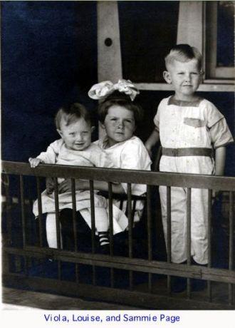 Viola, Louise, & Sam Page, 1918