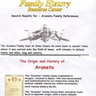 Arneta Family history