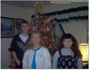 Terry Bradley with grandchildren, 2007