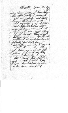 Letter from Sam Bass in Denton, TX to His Uncle, David L. Sheeks in Mitchell, IN, Dec 8, 1872, P. 1