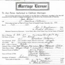 Joe M Dees Marriage License