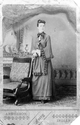 Water damaged photo of Aunt Bessie