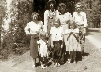 top,Neil and Dorothy Kelly,Jimmy Inabnit. middle,Florence Cooper,Janice and Wanda Kelly.bottom,Donnie Kelly