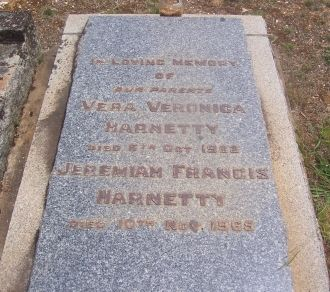 Vera and Jeremiah Harnetty Gravesite