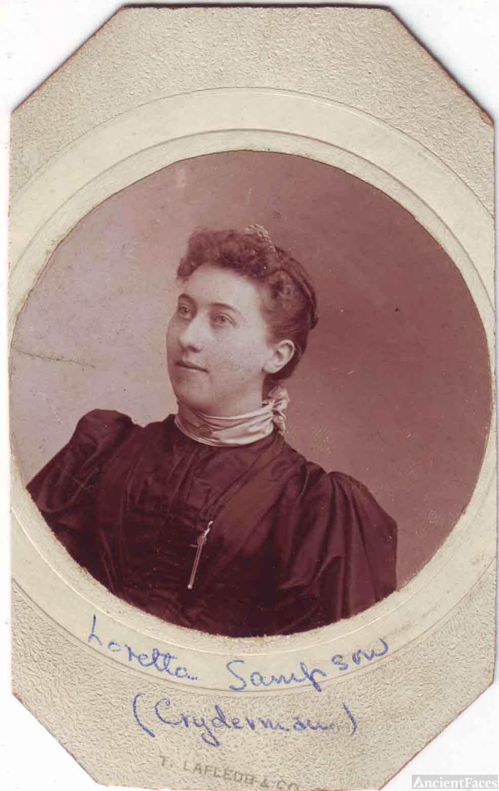 Agnes Loretta Cryderman (nee Sampson)