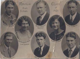 Rosalia Kansas High School Class of 1931